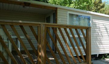 Camping Au Soleil d'OC - Mobil-Home avec terrasse - Les pieds dans l'eau
