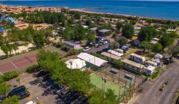Camping de La Plage et du Bord de Mer-vue aérienne-Les Pieds dans l'Eau 2