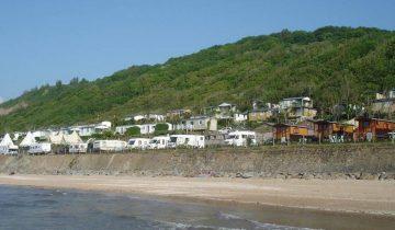 Camping de La Plage Houlgate-hébergements vue mer-Les Pieds dans l'Eau