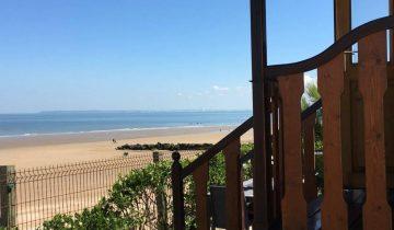 Camping de La Plage Houlgate-roulotte vue mer-Les Pieds dans l'Eau 4