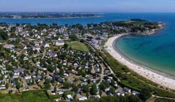Camping de La Plage Trinité-vue aérienne-Les Pieds dans l'Eau