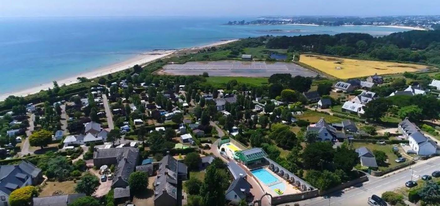 Camping de La Plage Trinité-vue aérienne-Les Pieds dans l'Eau 6