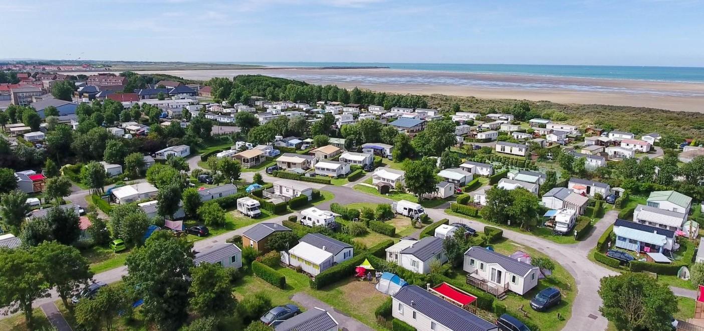 Camping Des Dunes-vue aérienne-Les Pieds dans l'Eau 2