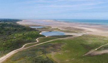 Camping Des Dunes-vue aérienne mer-Les Pieds dans l'Eau