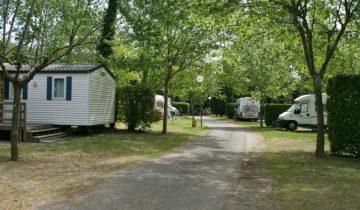 Camping Domaine de Gil-allée d'emplacments et de locatifs-Les Pieds dans l'Eau