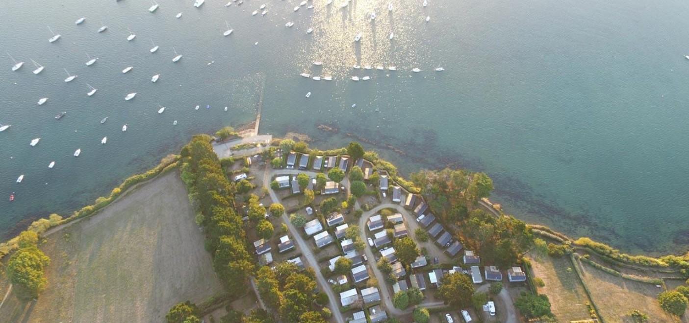 Camping du Bilouris-vue aérienne-Les Pieds dans l'Eau 3