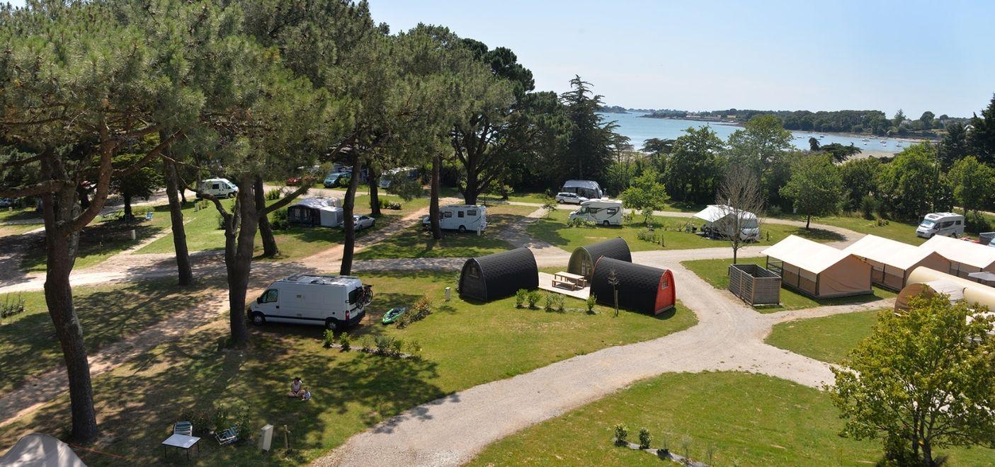 Camping Ker Eden-vue d'ensemble-Les pieds dans l'eau