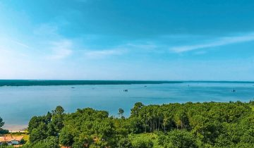 Camping La Calède-vue aérienne sur l'eau-Les pieds dans l'eau2
