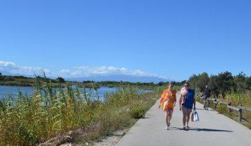 Camping Le Floride et l'Embouchure-promenade sur la voie verte-Les Pieds dans l'Eau