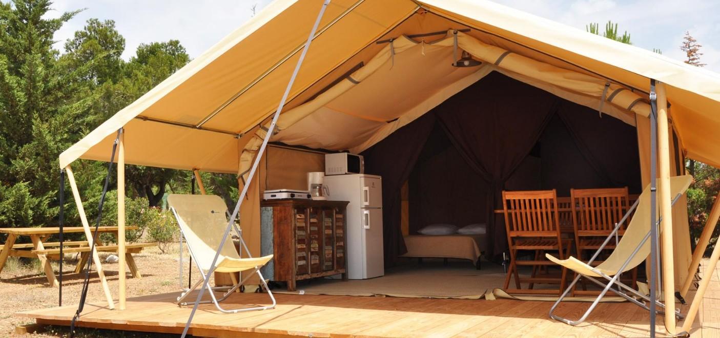 Camping Le Fun-tente équipée-Les Pieds dans l'Eau