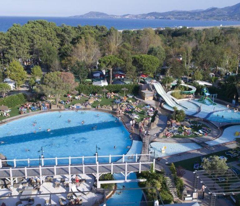Camping Le Soleil Argelès-vue aérienne-Les Pieds dans l'Eau 2