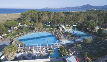 Camping Le Soleil Argelès-vue aérienne-Les Pieds dans l'Eau