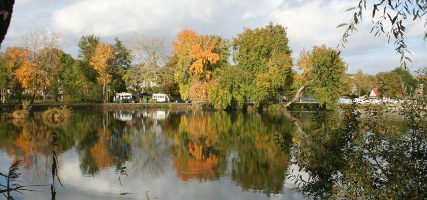 Camping Les Puits Tournants-emplacements en bordure d'étang-Les Pieds dans l'Eau