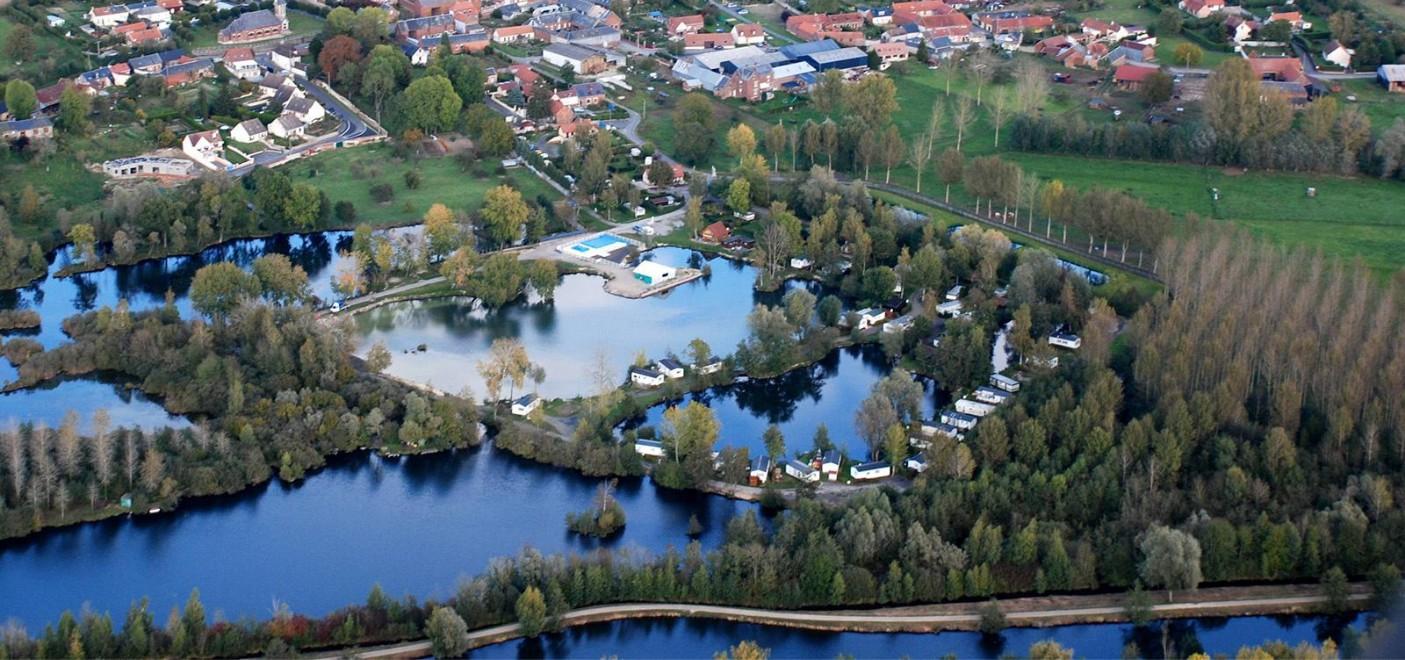 Camping Les Puits Tournants-vue aérienne-Les Pieds dans l'Eau 2