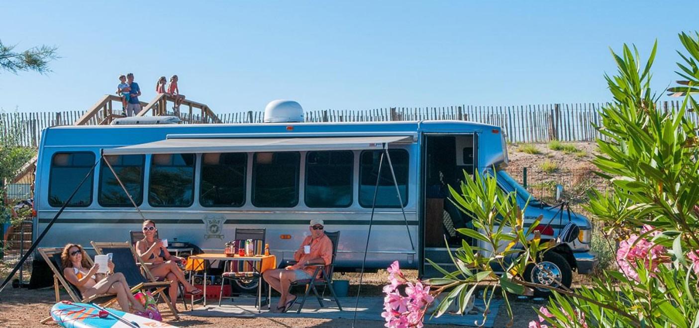 Camping Méditerranée Plage-locatif-Les Pieds dans l'Eau 3
