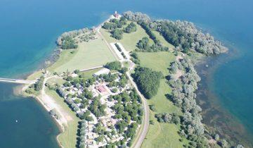 Camping Presqu'île de Champaubert-vue aérienne-Les Pieds dans l'Eau