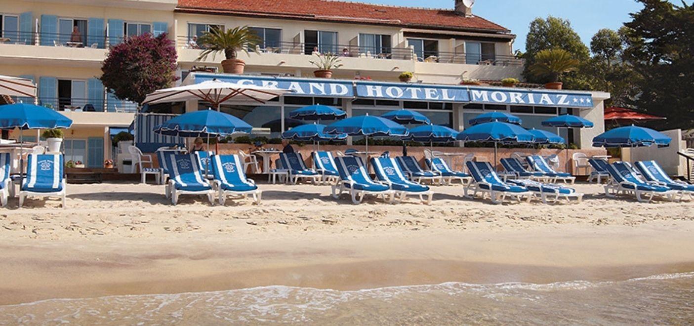 Grand Hotel Moriaz-plage aménagée-Les Pieds dans l'Eau