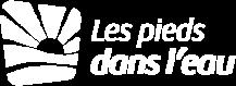 Les Pieds Dans L'eau : Lpdl Logo Monochrome Blanc Grand