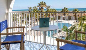 Hôtel Bulles de Mer-balcon vue mer-Les Pieds dans l'Eau