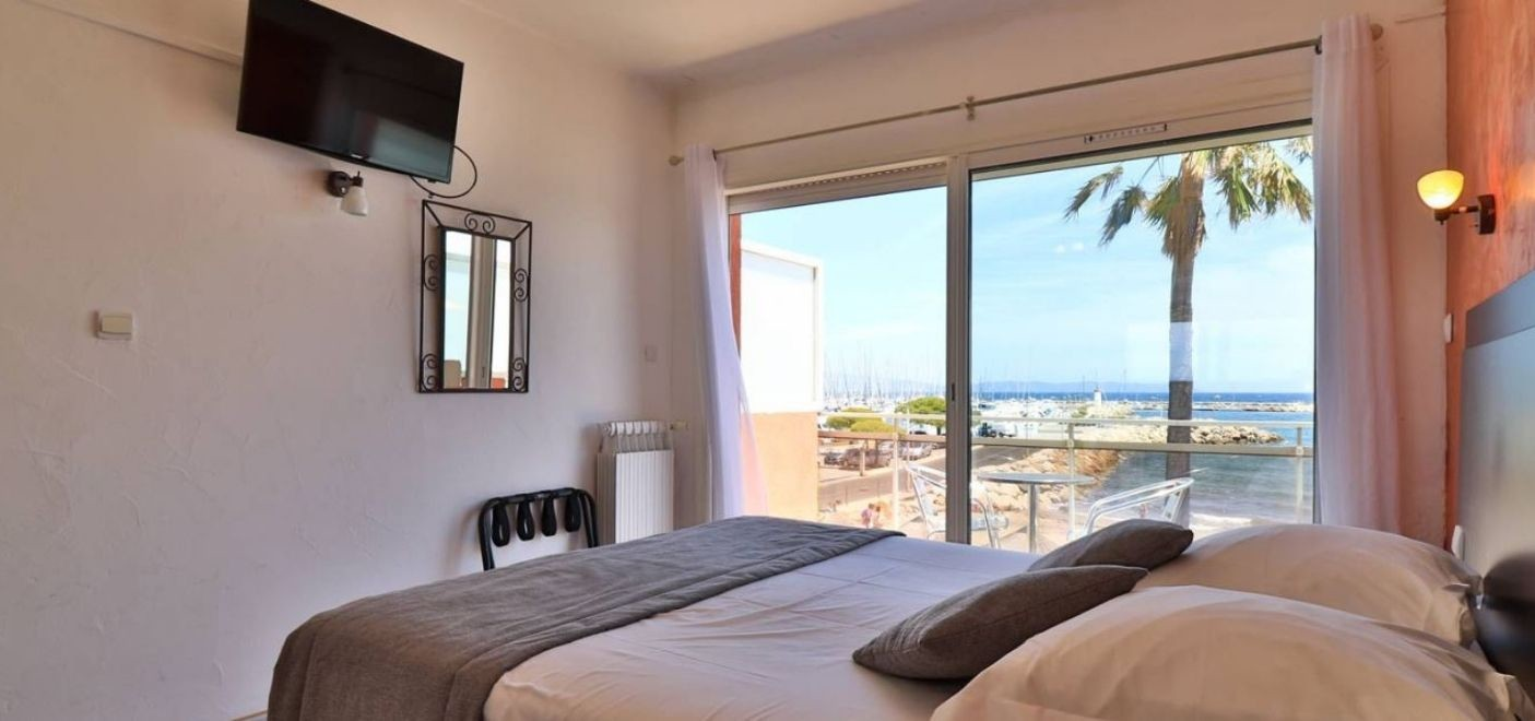 Hôtel La Potinière-chambre vue mer-Les Pieds dans l'Eau 3
