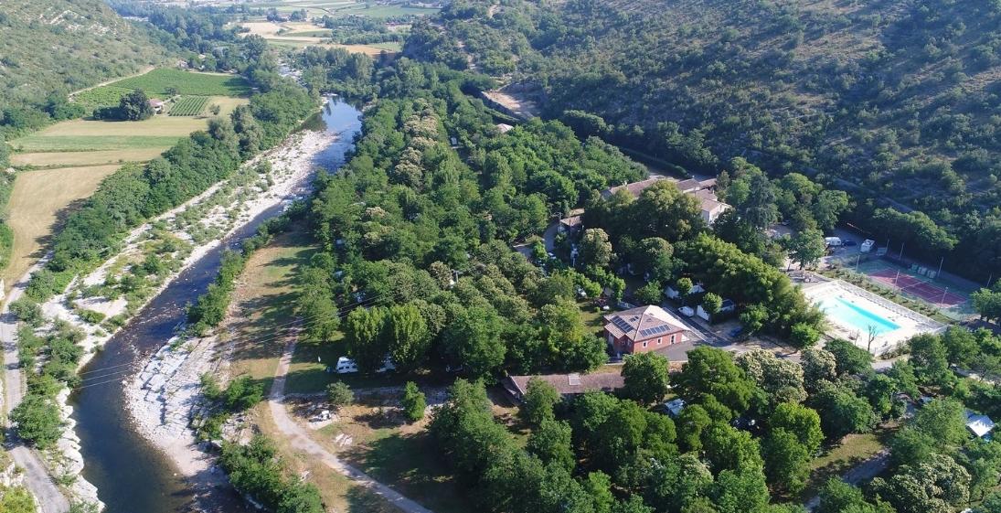 Camping Arleblanc - Ardèche - vue-aerienne