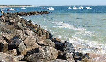 Camping Les Flots Atlantique-baie de Perroche-Les pieds dans l'eau
