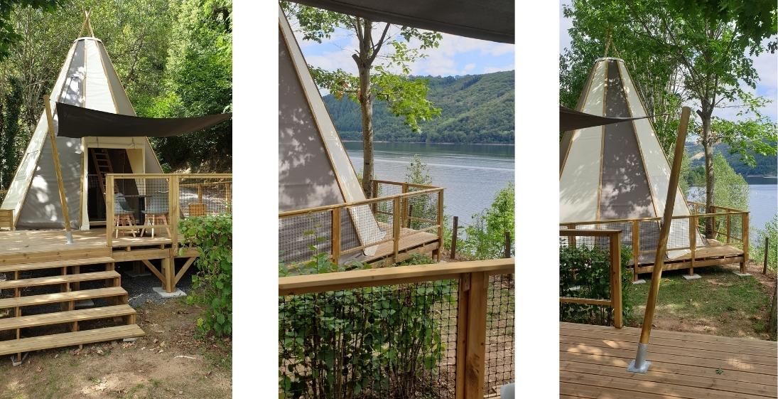 Les Pieds dans l'eau : Camping La Source - tente