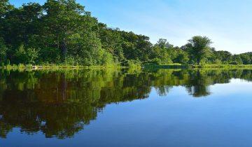 Camping lac de Neguenou - Agen - les pieds dans l'eau