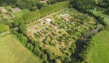 Camping Dordogne Verte-vue aérienne-Les pieds dans l'eau