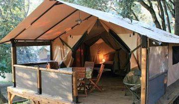 Les Pieds Dans L'eau : Camping Esplanade Corse Lodge
