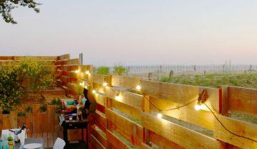 Camping Landrezac Plage - Terrasse vue mer - Les pieds dans l'eau2