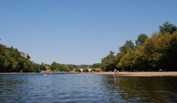 Camping Le Port de Limeuil - Plage - Les pieds dans l'eau