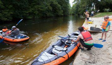 Camping Brantôme Peyrelevade - activités nautiques - Les pieds dans l'eau