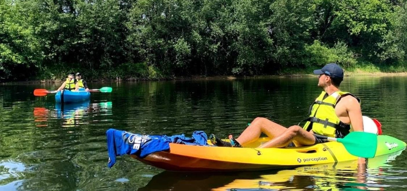 Camping Les Chalets sur la Dordogne - activités nautiques- Les pieds dans l'eau