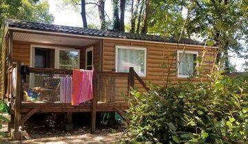 Camping Les Chalets sur la Dordogne - locatif 2 - Les pieds dans l'eau