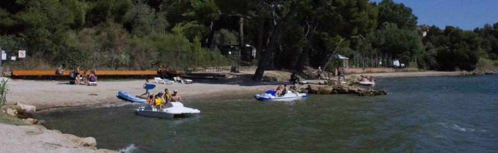 Camping Marina Plage - Pédalos - Les pieds dans l'eau2